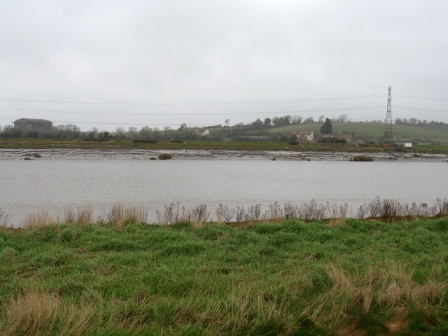 Pawlett across the River Parrett.