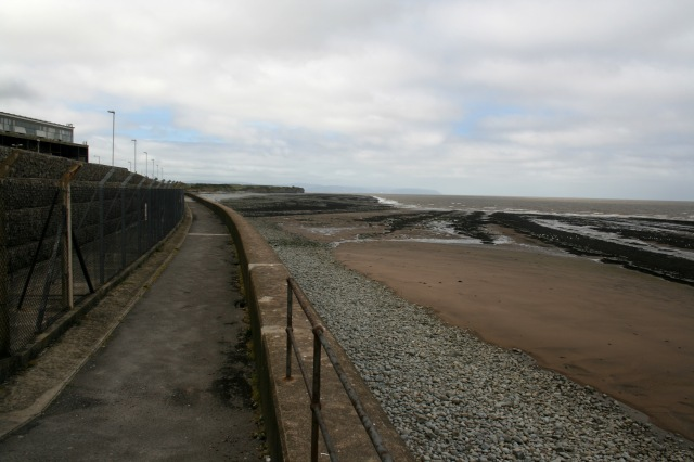 The coast path at Hinkley Point power station