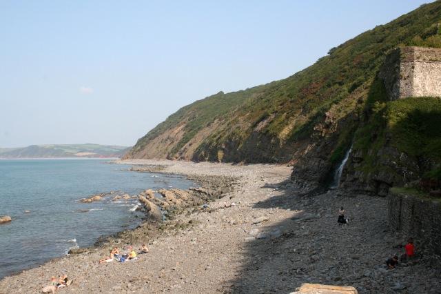 The beach at Bucks Mills