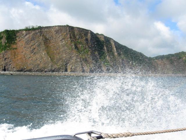 Heading along the North Devon coast